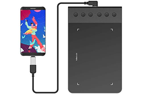 XP-PEN StarG640S Android Graphic Drawing Tablet 6x3.75 Inch Digital Tablet 8192 Levels Pressure Sensitivity Pen Tablet Support Android Devices with Battery-Free Stylus