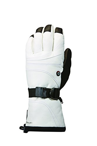Seirus Innovation Women's Heat Touch Ignite Cold Weather Rechargeable Heated Gloves, White, Small by Seirus Innovation
