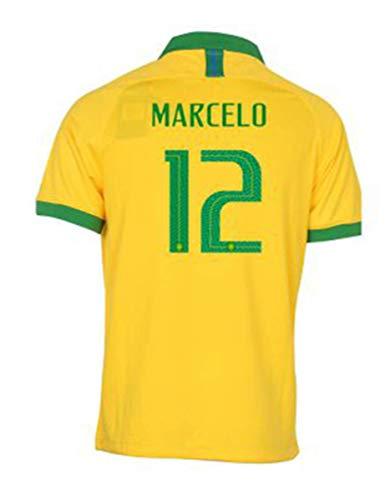 2019 Men's Home Marcelo #12 Brazil National Team Soccer Jersey Yellow (S)