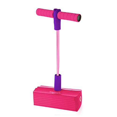 Original Foam - The Original Foam Pogo Jumper for Kids 100% Safe Pogo Stick, Strong Bungee Toy for Toddlers, Fun Foam Hopper for Children Boys/Girls, Squeaks with Each hop! Supports up to 250lbs. (Pink/Purple)