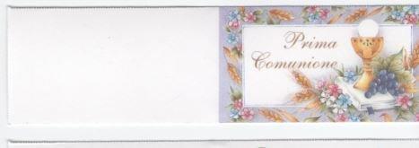 Vinciprova Le Gemme di Venezia 60 Bigliettini Bomboniera Prima Comunione Stampa Personalizzata a Colori in Omaggio