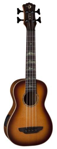 Luna UKEBASSHT High Tide Spruce Top Bass Acoustic-Electric Ukulele, Sunburst by Luna Guitars