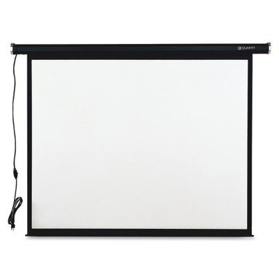 Quartet Electric Projection Screen, 70 x 70 Inches, Black Frame (770S)