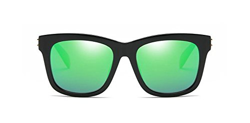 du métallique Vert Lennon en de et lunettes polarisées retro cercle style vintage soleil Bleu rond inspirées 1nUfIfwxqC
