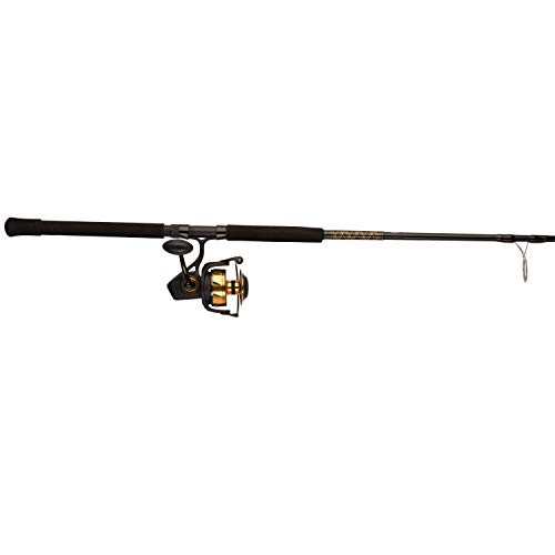 Penn Spinfisher VI 8500 7' Heavy Onepiece Spinning Fishing Combo, Black Gold, 7'-Heavy-1Pcs Black Gold Spinning Reel