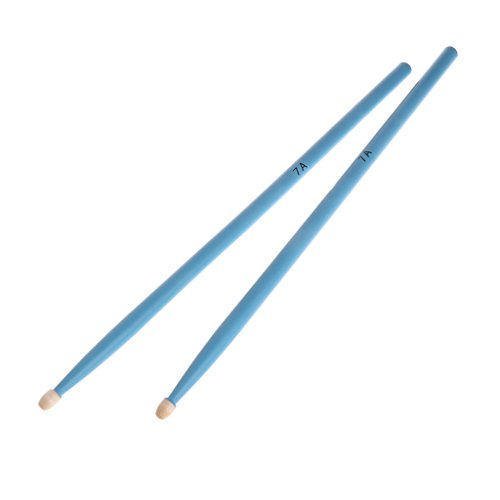 OTGO 1Pair of 5A 7A(Optional) Durable Drumsticks Color Hard Maple Drum Sticks Kid Jazz Drums Stick (7a, Sky blue)