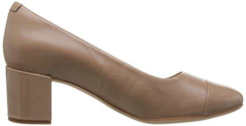 Beige Beige MIA para Piel de Orabella Clarks de Cordones Zapatos Mujer 1xvwzn