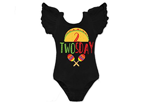 Girls Taco Twosday 2nd Birthday Leotard by Squishy Cheeks
