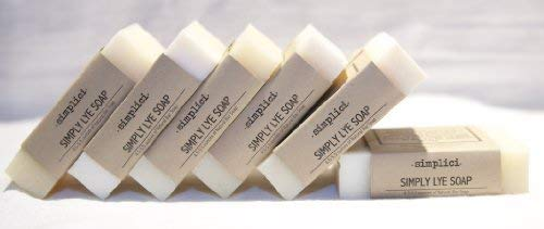 SIMPLICI Simply Lye Soap Value Pack (6 Bars of Unscented Natural Soap) [並行輸入品]   B07N4MS51L