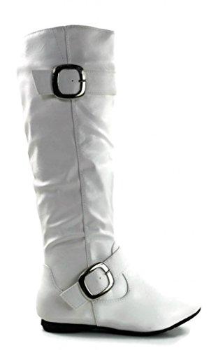 Scarpe Da Kali Calzature Da Donna Alte Scarpe Piatte Moda Bianche