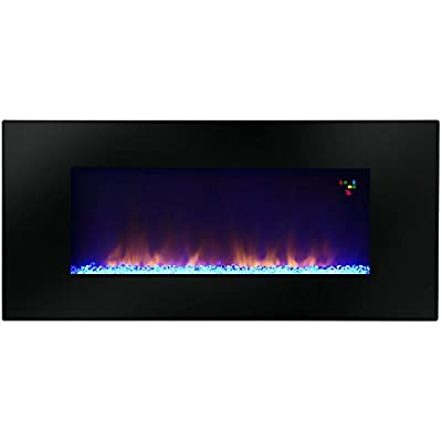 "Warm House Amazon 48"" Widescreen Wall-Mounted LED Fireplace with Customized Flame Patterns"