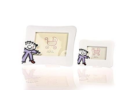 DISOK - Portafotos Toy Poliresina Niño Hor. L - Portafotos, portaretratos Bebes Bautizos Originales: Amazon.es: Hogar