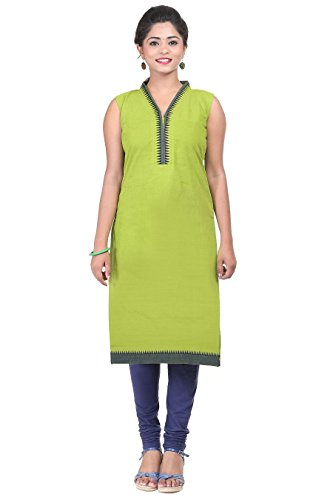 Mehandi Green Cotton Handloom Kurta