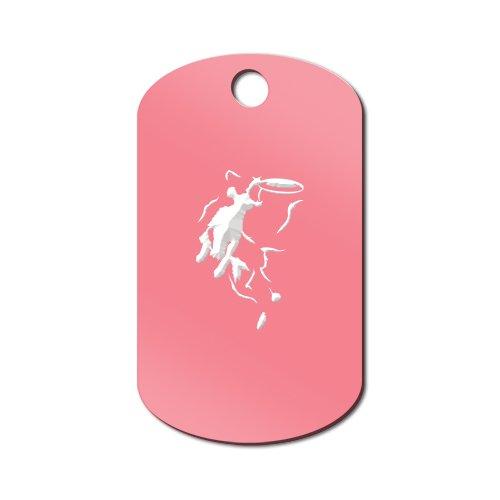 Border Collie Accessories (Border Collie Frisbee Disc Dog Engraved Keychain / GI Tag Mister Petlife v4 Pink)