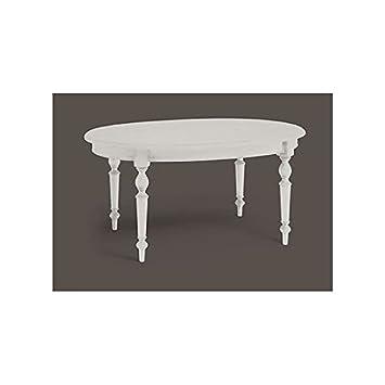 Extensible Ovale Laqué Massif Comme Esteamobili Bois Table Cuisine AL4R5j