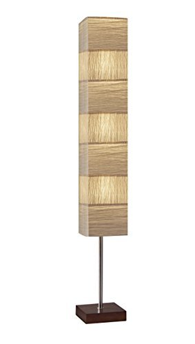 - Adesso 8027-15 Sahara Tall Floorchiere, Brushed Steel