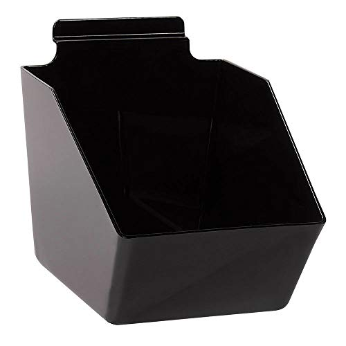 "Buy All Store 10 Slatwall Bins Dump Acrylic Black 7 ½"" L X 6"" W X 5 ½"" Plastic Retail Display -  buyallstore"