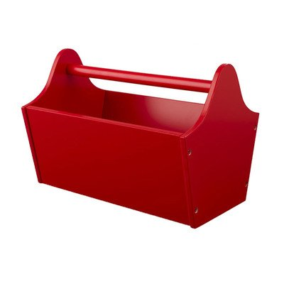 Toy Box Caddy Finish: Red (Kidkraft Wood Toy Caddy)