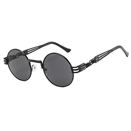 OutTop(TM) Unisex Women Men Personality Retro Glasses Big Frame Sunglasses Punk Flat Mirror Eyewear (G)