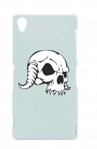 """Smartphone Case Apple IPhone 4/ 4S """"Ziegen Schädel mit geschwungenen Hörnern Skelett Rocker Motorradclub Gothic Biker Skull Emo Old School"""" Spass- Kult- Motiv Geschenkidee Ostern Weihnachten"""