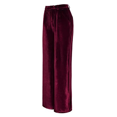 RRINSINS Women Casual Harem Pants High Waist Elastic Waist Trousers