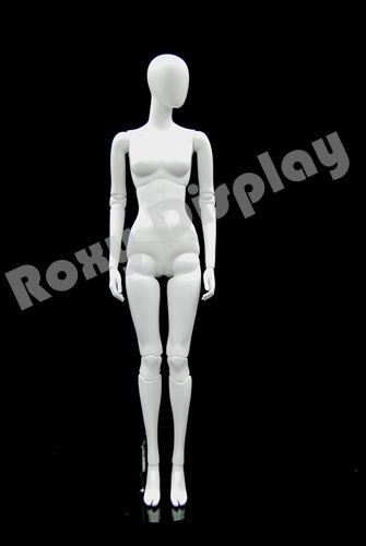 (MZ-ABEGW4) ROXYDISPLAY™ Female Egghead Mannequins, standing pose with straight legs. Fake joints. by Roxy Display