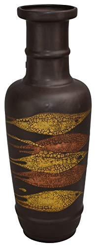 Haeger Pottery Brown Yellow Earth Wrap Long Neck Deco, used for sale  Delivered anywhere in USA