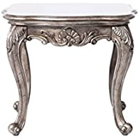ACME Furniture 80541 Chantelle End Table, Antique Platinum