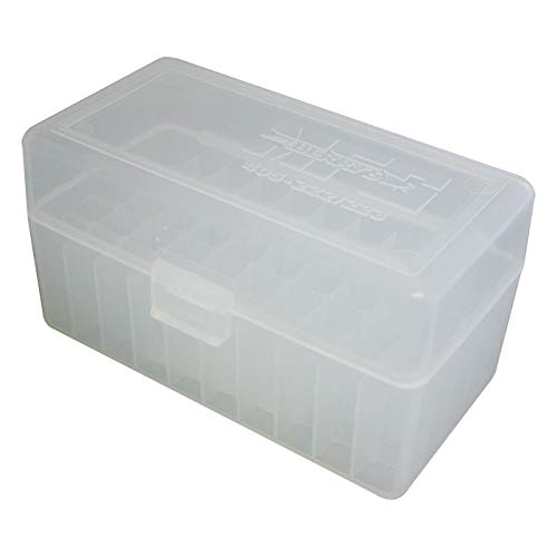 BERRY'S Plastic Ammo Box, Clear 50 Round 223/5.56 (10)
