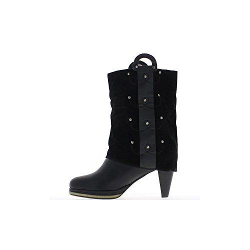 ChaussMoi - Botas de sintético para mujer, color negro, talla 39