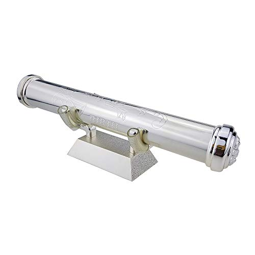 Birth Certificate Holder with Base Set,Silver-Plated Zinc Alloy Certificate Holder Birth Certificates Holder Certificate Storage Tube Certificate Collection Tube Birth Certificate Tube RKS-PCH009a