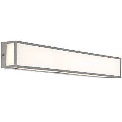 "NEW Modern Vanity Light | Frosted LED Brushed Nickel Wall Mounted Lighting | Vertical or HorizontalBox Light | 3000K Warm White 36"""