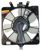 TYC 611010 Honda Fit Replacement Condenser Cooling Fan Assembly (System Cooling Honda)