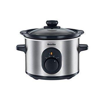 Breville VTP169 Compact Slow Cooker, 1.5 L - Silver