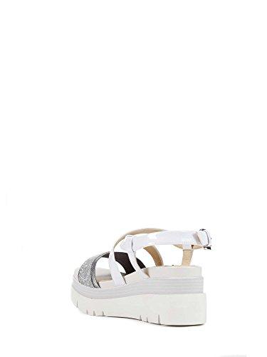 Geox D827UD 0EWHH Sandales Compensées Femmes Blanc 37