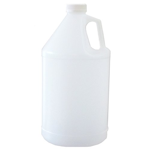 Firefly Bulk Empty HDPE Plastic Bottles with Childproof Caps - 1 Gallon (128 Ounces) - Case of 2 - for (128 Oz Jug)