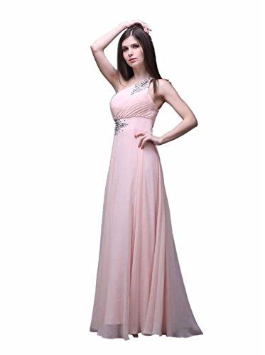 eine Rosa Schulter Kleider lange Damen Kmformals prom f0qTxwvPgn