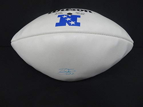 Autographed Emmitt Smith Signed Wilson Pro Bowl White Panel Football Signature- PSA/DNA ()