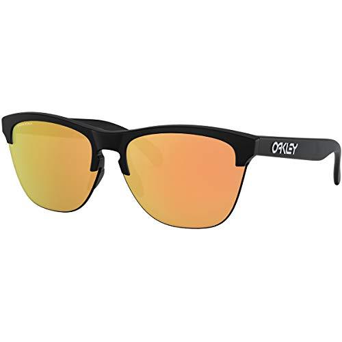 Oakley Men's Frogskins Lite Sunglasses,OS,Matte Black/Prizm Rose Gold (Oakley Prizm Sonnenbrille)
