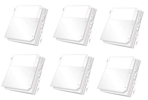Tops Cardinal Poly Ring Binder Pockets, 5 Tab, Double Pocket, White, 6 Pack ()