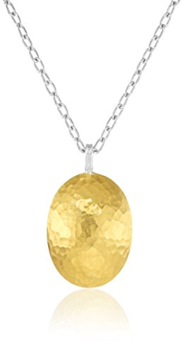 GURHAN ''Jordan'' Silver, Gold Faced Pendant Necklace by Gurhan