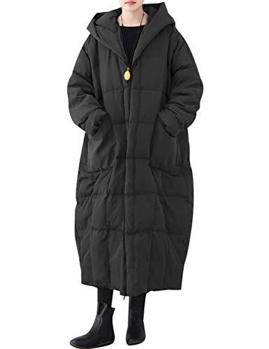 Long Duvet Chaud 1 Hiver Vestes Femmes Manteau Noir Longues Manches De À Style Youlee wBqYEtxR4R