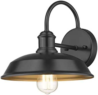 Odeums Farmhouse Barn Lights Outdoor Wall Lights Exterior Wall Lamps Industrial Wall Lighting Fixture Wall Mount Light In Black Finish With Copper Interior Black 1 Pack
