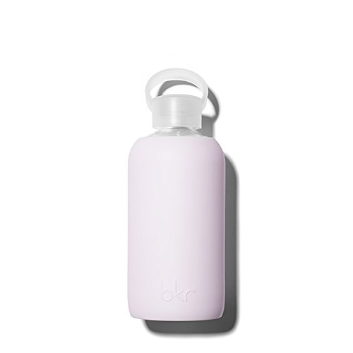 bkr Lala Glass Water Bottle with Smooth Silicone Sleeve for Travel, Narrow Mouth, BPA-Free & Dishwasher Safe, Opaque Lavender Fog, 16 oz / 500 mL by bkr (Image #2)