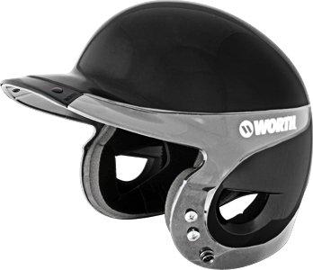 Worth Liberty Batting Helmet - Black/Silver