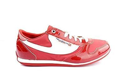 Diesel Sheclaw W Mujer Zapatillas Low Zapatos de Cordones Zapatillas de Deporte High Risk Rojo/Blanco - Rojo, 35 EU: Amazon.es: Zapatos y complementos