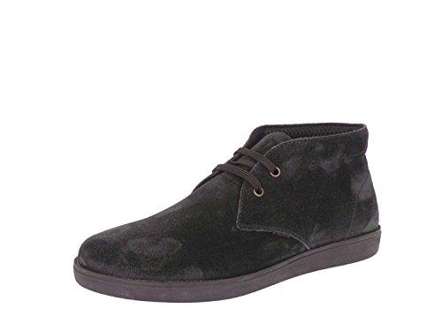 FRAU - Zapatos de cordones de ante para hombre negro