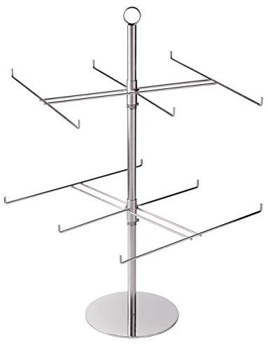 (SSWBasics 2-Tier Countertop Peg Spinner Rack (Sign Holder)