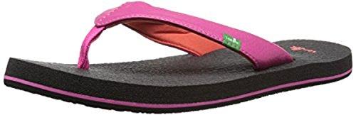 Sanuk Youth Yoga Mat Sandali Per Ragazze Hot Pink / Red 2/3 E Scarpa Per Scarpe