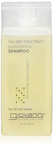 Giovanni Hair Care Products Shampoo Tea Tree Triple Treat, 2 Fluid Ounce